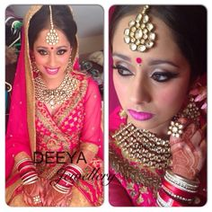 Ranj - Beautiful bride. This handcrafted kundan set was customised especially for Ranji's big day. For exquisite elegance and  delicate high end jewellery choose Deeya. Beautiful jewellery for any occasion. Customise set to to colours you require. Contact Deeya Jewellery by calling, Whatsapp or viber to purchase or enquire on 00447545228167. We deliver worldwide.