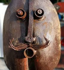 using shovels in metal art faces - Google Search