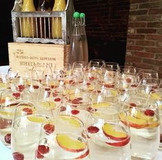 Deluxe Fine Food Package: White Peach Sangria @GGWeddings