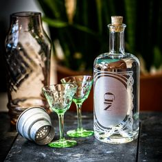 Gin - The Constance Spirit Decanter Collection. Great for a home bar, bar cart and/or cocktail enthusiast. Can be personalized for a great gift for him, father's day, grads, housewarming, or weddings.