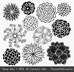 BIG SET of Hand Drawn Flowers includes: 44 PNG files with transparent backgrounds approximately 9 (22 cm) wide 4 EPS, 4 ΑΙ (vector files) Each file is in high quality 300dpi resolution. Suitable for most computer programs This BIG SET is actually a combination of the