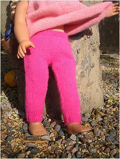 Free Knit pattern Chinese woolies pants for american girl dolls