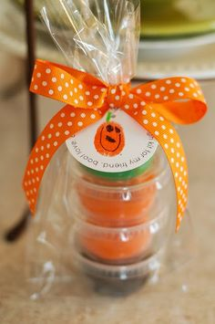 I dont celebrate Halloween, but this is a cute idea as a party favor for a kids birthday party or at a school.