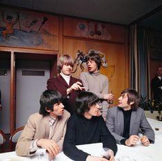 The Rolling Stones at a press conference in Copenhagen, 1965 Photo by Bent Rej