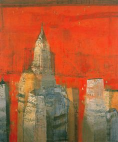Paul Balmer cityscape paintings