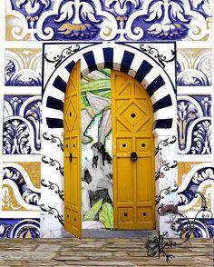 Yellow morrocan door #Morocco - Maroc Désert Expérience tours http://www.marocdesertexperience.com