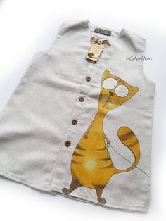 Suit for boys grey linen painted suit for boys por InGAartWork