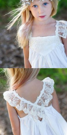 Find unique, vintage and handmade Best A-line Flower Girl Dress - Square Mid-Calf White with Lace Flower Girl Dresses in sevengrils A-line Flower Girl Dress - Square Mid-Calf White with Lace Cute Flower Girl Dresses, Lace Flower Girls, Girls Dresses, Lace Flowers, Baby Dress Tutorials, Kids Outfits, Kids Fashion, Minka, White Lace