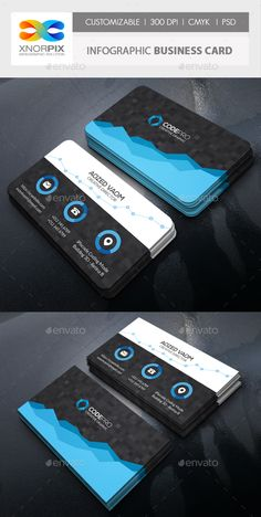 Infographic Business Card Template PSD