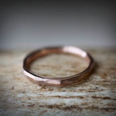 Rose Gold Stacking Band by Staghead Designs.