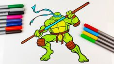 How to colour Donatello Ninja Turtles Drawing with Baby Shark music Ninja Turtle Drawing, Ninja Turtles Cartoon, Shark Background, Baby Shark Music, Play Doh, Coloring For Kids, Tmnt, Cartoon Characters, Kids Toys