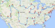 If you've ever dreamt of taking a trip though the United States...