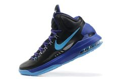 big sale db86a 4d435 kevin durant shoes 2013 Nike KD V Black Blue Glow Game Royal Strata Grey  554988 003