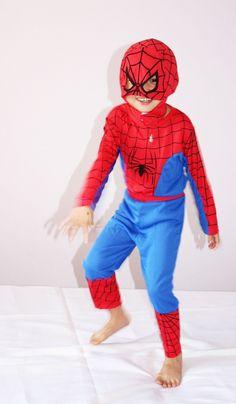 Boy Spider-man Size 3-4-5-6-7 Kid Halloween Costume