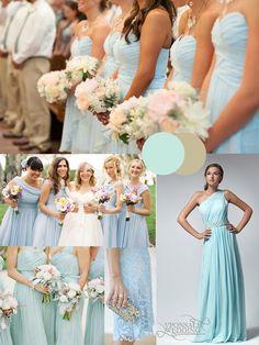 ice blue bridesmiad dresses for winter 2014