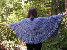 Ravelry: Expanding Shells Cape pattern by Karen Klemp