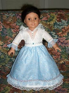 Advanced Embroidery Designs - Lace-Trimmed Outfit for 18-inch Dolls.