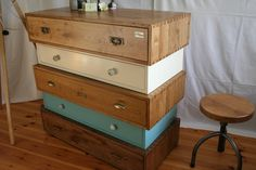 """Chest of drawers """"Charlotte II."""" oak antique design by villabrocante on Etsy https://www.etsy.com/uk/listing/501465941/chest-of-drawers-charlotte-ii-oak"""
