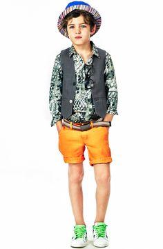 Paul Smith Junior Charcoal printed shirt Gray - 30617 | Melijoe.com
