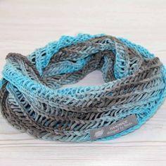 Kostenlose Anleitung: Loopschal für Damen stricken | Der namensbaender.de Kreativ-Blog