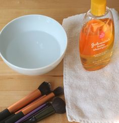 Cleaning make up brushes.  So easy and healthy.  Make up applicators are a leading cause of eye infections.