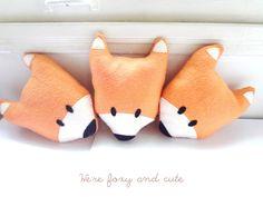 Sly Pete orange fox plush, pillow, stuffed animal or toy