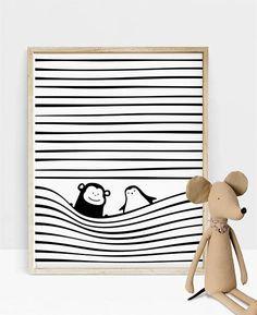 Baby Gift, Gender Neutral, Nursery Decor, Scandinavian Baby