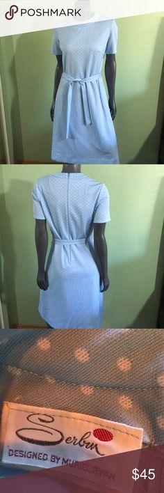 W's vintage serban by Muriel Ryan polka dot dress Unknown size. muriel ryan Dresses Midi