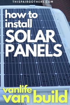 Solar Panel Installation, Solar Panels, Rv Battery, Camper Van Life, Cool Campers, Tiny House On Wheels, Rv Life, Renewable Energy, Sustainable Living