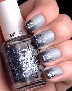 #essie Stroke of Brilliance #nails #blue #sparkles