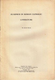 Eugenics in Roman Catholic Literature