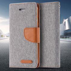 Vintage Cloth Grain Flip Leather Case For Apple iPhone 5 5S SE Card Slots + Stand Holder Wallet Cover Bag For iPhone SE 5 5S