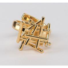 // Vergara Collection - Sticks Ring - DANIELA SALCEDO Statement Jewelry, Ring Designs, Sticks, Cufflinks, Rings, Accessories, Collection, Jewels, Ring