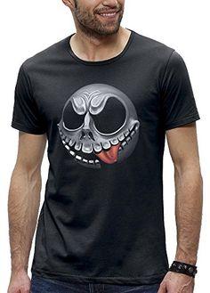 Jack Esquéleton - Camiseta de realidad aumentada para hombre de manga corta #regalo #arte #geek #camiseta