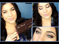 Too Faced Chocolate Bar Palette Tutorial! - YouTube