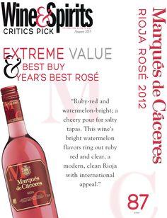 Marqués de Cáceres Rioja Rose 2012 - Extreme Value, Best Buy & Year's Best Rosé!!!