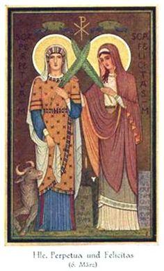 Santas Perpétua e Felicidade, mártire, 7 de março