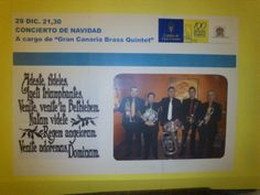 El cartel que nos anunciaba para el día del concierto