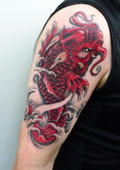 I truly am keen on the tints, outlines, and linework. This is really a wonderful choice if you want a Cool Arm Tattoos, Arm Tattoos For Guys, Sleeve Tattoos, Koi Fish Tattoo Forearm, Dragon Tiger Tattoo, Koi Dragon, Traditional Japanese Tattoos, Asian Tattoos, Japan Tattoo