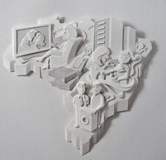 Incredible Paper Sculpture by Carlos Meira   Abduzeedo   Graphic Design Inspiration and Photoshop Tutorials