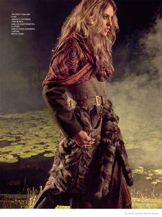 Julia Frauche Wears Gypsy Fashions for El Libro Amarillo by David Roemer Gipsy Fashion, Indie Fashion, Fur Fashion, Bohemian Fashion, Ethnic Fashion, Gypsy Style, Bohemian Style, Boho Chic, Hippie Bohemian
