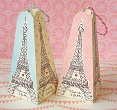 5 Cadeau imprimable Tour Eiffel & Kit de boîtes de par Vianneart