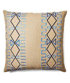 Beige Lyon Belgian Linen Throw Pillow