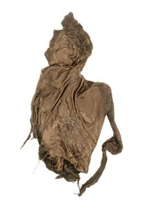 """Clonycavan-Man - A bog body dated to 4th to 3rd century BCE. Found in 2003 in a Bog near Ortschaft Clonycavan, County Meath, Ireland.  He has been calculated to have been approximately 1.76 metres (5 ft 9 in) in height, and is remarkable for the """"gel"""" in his hair. It is on display at National Museum of Ireland, Dublin."""
