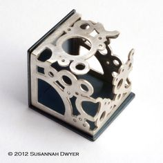 "Susannah Dwyer, ""Your Only Wage Will Be Joy"", 2012. Brooch. Sterling silver, mild steel, magnets."