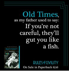 Old times. #RulesofCivility