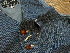 Ol Fashion, Denim Fashion, Fashion Details, Vest And Tie, Japanese Denim, Denim Outfit, Work Shirts, Vintage Denim, Swagg