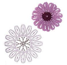 No.42 African Daisy Crochet Flower Motifs / 아프리칸 데이지 코바늘 플라워 모티브도안