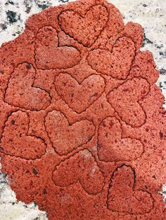 Heart shapes being cut out of beet cookie dough on counter Love Beets, Fresh Beets, Natural Food Coloring, Pink Food Coloring, Dog Cookies, No Bake Cookies, Sour Cream Icing, Vegetable Prints, Types Of Flour