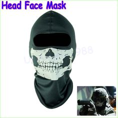 1 unids nueva cabeza cara máscara cráneo Balaclava máscara Head Gator negro de la capilla venta al por mayor